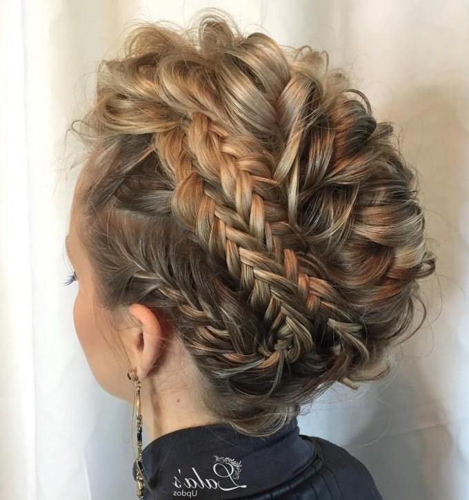 70 Most Gorgeous Mohawk Hairstyles Of Nowadays In 2019 Throughout Multi Braid Updo Hairstyles (View 5 of 25)