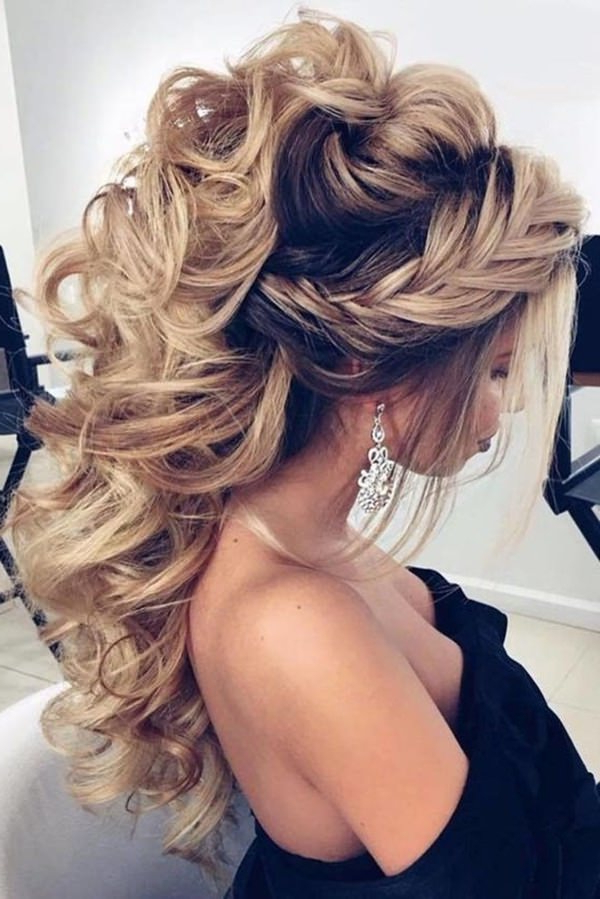 70 Prom Hair Ideas To Sparkle Like You Were A Queen For Teased Fishtail Bun Updo Hairstyles (View 23 of 25)