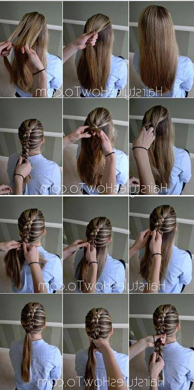 72 Trendy Diy Hairdo Braid Tutorials To Hog The Limelight For Current Billowing Ponytail Braided Hairstyles (View 3 of 25)