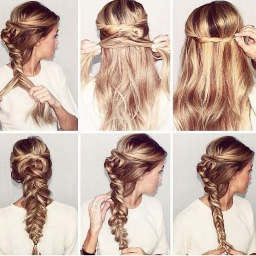 72 Trendy Diy Hairdo Braid Tutorials To Hog The Limelight inside Latest Billowing Ponytail Braided Hairstyles