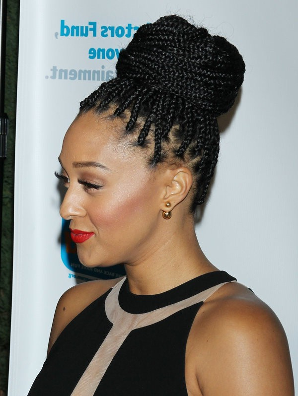 73+ Box Braids Hairstyles With Small, Medium And Jumbo Boxes with Best and Newest Box Braids Bun Hairstyles