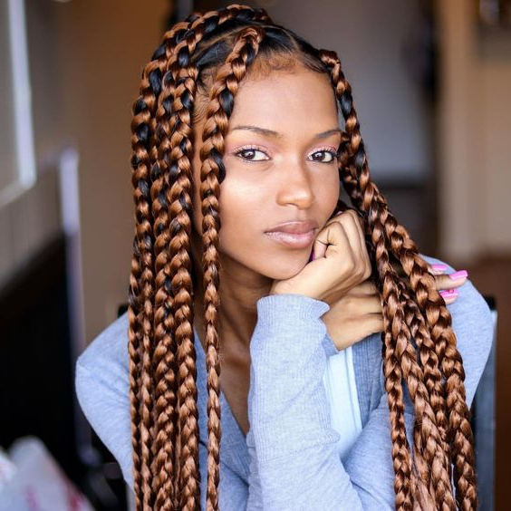 79 Sophisticated Box Braid Hairstyles (With Tutorial) Within Latest Box Braided Hairstyles (View 13 of 25)