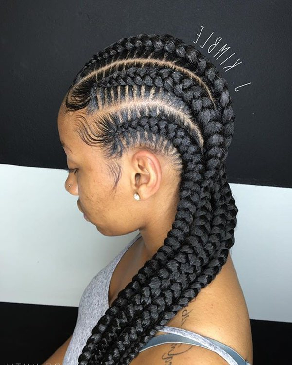 80 Amazing Feed In Braids For 2019 for Newest Straight Backs Braided Hairstyles