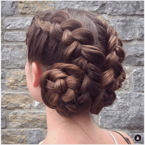 80 Gorgeous Braided Updos For All Hair Types In Reverse French Braid Bun Updo Hairstyles (View 20 of 25)