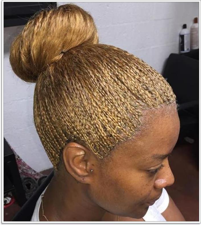 81 Micro Braids You Cannot Miss Regarding Latest Shaved Platinum Hairstyles With Micro Braids (View 6 of 25)