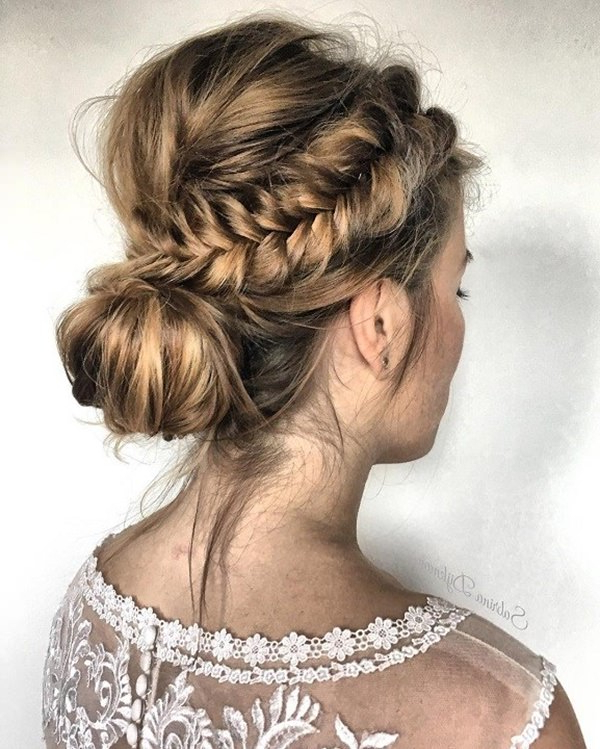 87 Stunning Braided Updo's For Your Next Event Intended For Fishtail Braid Updo Hairstyles (View 20 of 25)