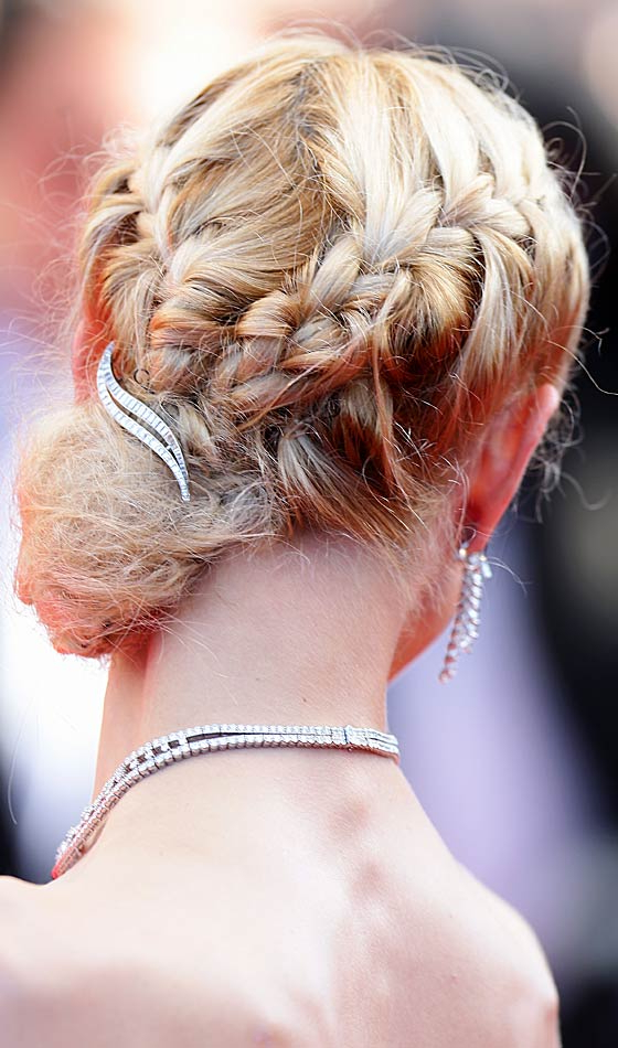 9 Braid Buns To Try This Wedding Season For Blinged Out Bun Updo Hairstyles (View 20 of 25)