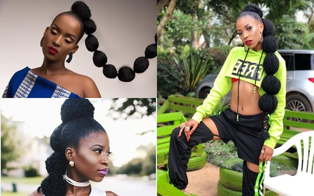 A Bubble Ponytail Is The Hairstyle You Need To Try Right Now Inside Natural Bubble Ponytail Updo Hairstyles (View 6 of 25)