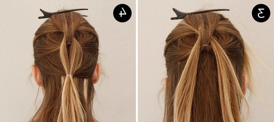 Add Edge To Any Look With This Easy Pull Through And Intended For Pull Through Ponytail Updo Hairstyles (View 21 of 25)
