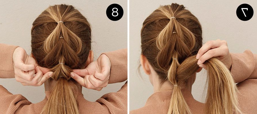 Add Edge To Any Look With This Easy Pull Through And With Pull Through Ponytail Updo Hairstyles (View 2 of 25)
