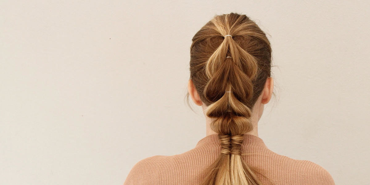 Add Edge To Any Look With This Easy Pull Through And With Regard To Pull Through Ponytail Updo Hairstyles (View 19 of 25)