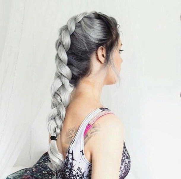 Adorable, Black, Black Hair, Braids, Cute, Fashion, Grunge Within Most Recent Billowing Ponytail Braided Hairstyles (View 16 of 25)