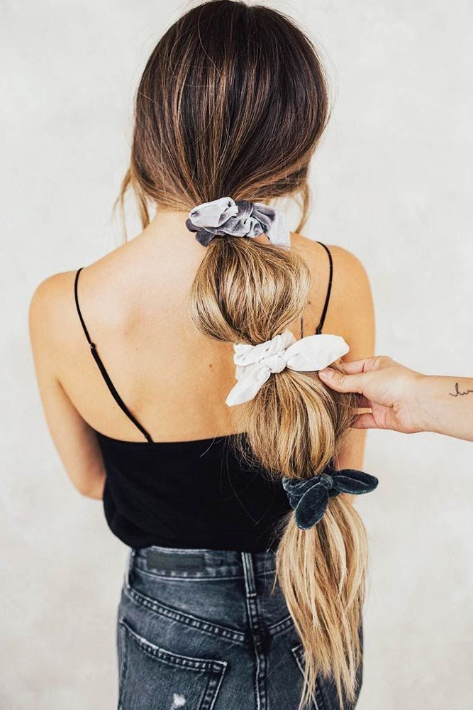 Adorable Hair Scrunchies And Styles That You Can Do With Intended For Bubble Pony Updo Hairstyles (View 21 of 25)
