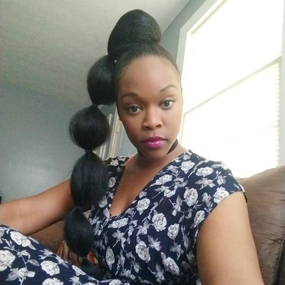 Afro Puff Bubble Ponytails Are Trending On Instagram | Allure Regarding Natural Bubble Ponytail Updo Hairstyles (View 24 of 25)