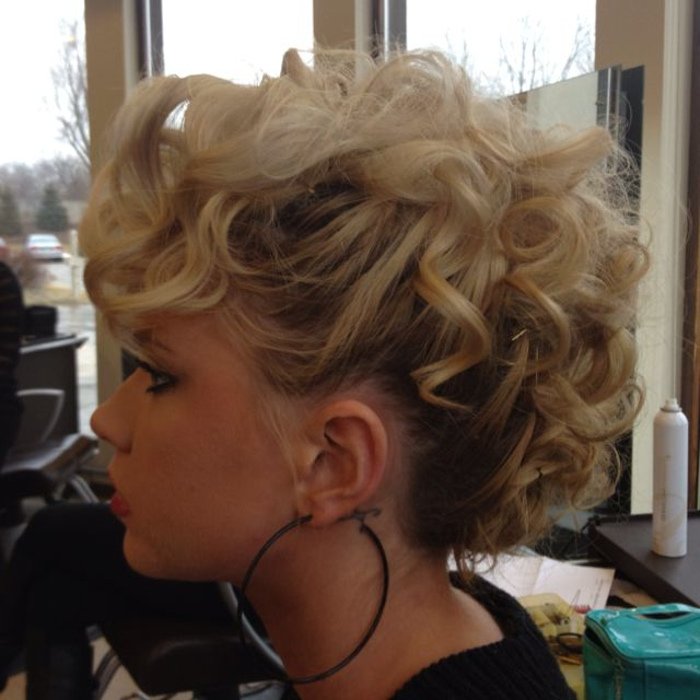 Almost Looks Like A Mohawk!! Love Love   Hair/makeup   Curly With Curly Mohawk Updo Hairstyles (View 17 of 25)