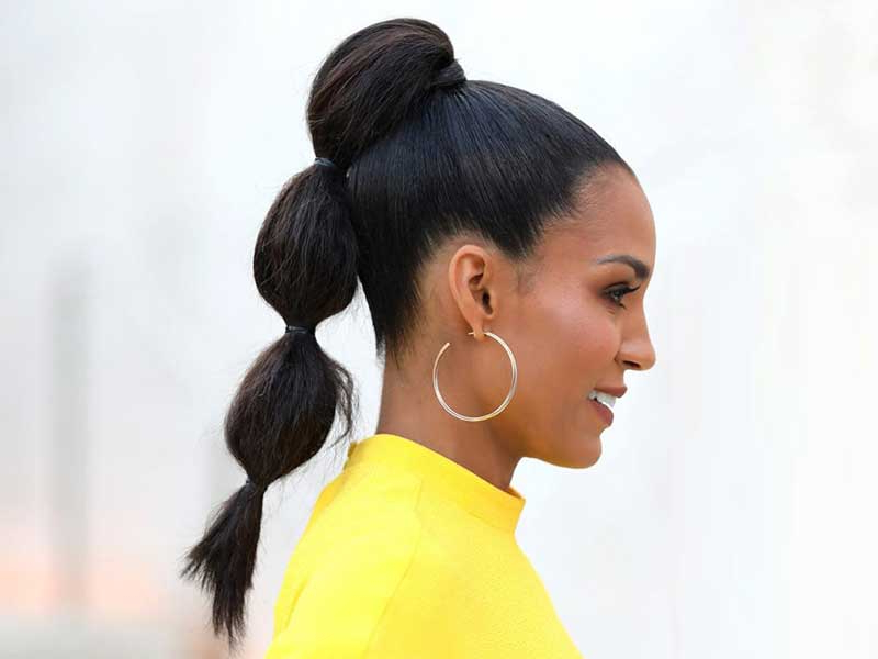 Amazing How Ponytail African American Hair Elevate Your Look! In Natural Bubble Ponytail Updo Hairstyles (View 17 of 25)