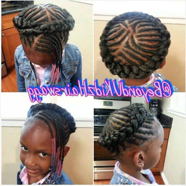 Angel Halo Braid Style | Halo Braids | Little Girl Braids With Most Up To Date Halo Braided Hairstyles With Bangs (View 20 of 25)