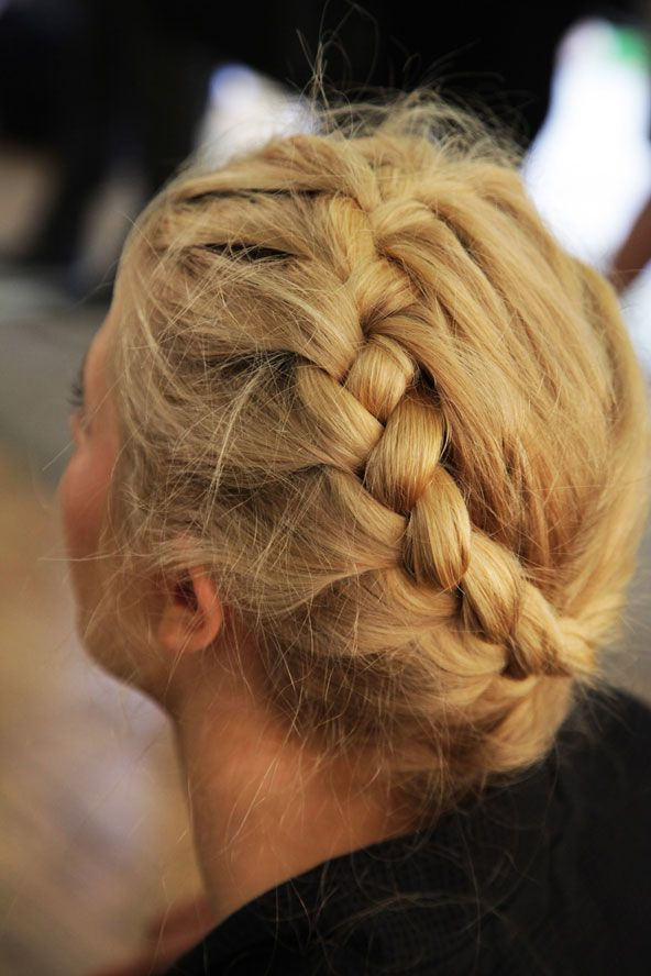 Asymmetrical French Bread Up Do, Hair, Hair Styles | Hair Regarding Most Up To Date Asymmetrical French Braided Hairstyles (View 15 of 25)
