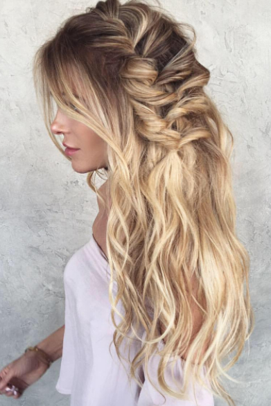 Beach Waves And Braids | Hair Inspiration In 2019 | Long Pertaining To Recent Braids And Bouffant Hairstyles (View 5 of 25)