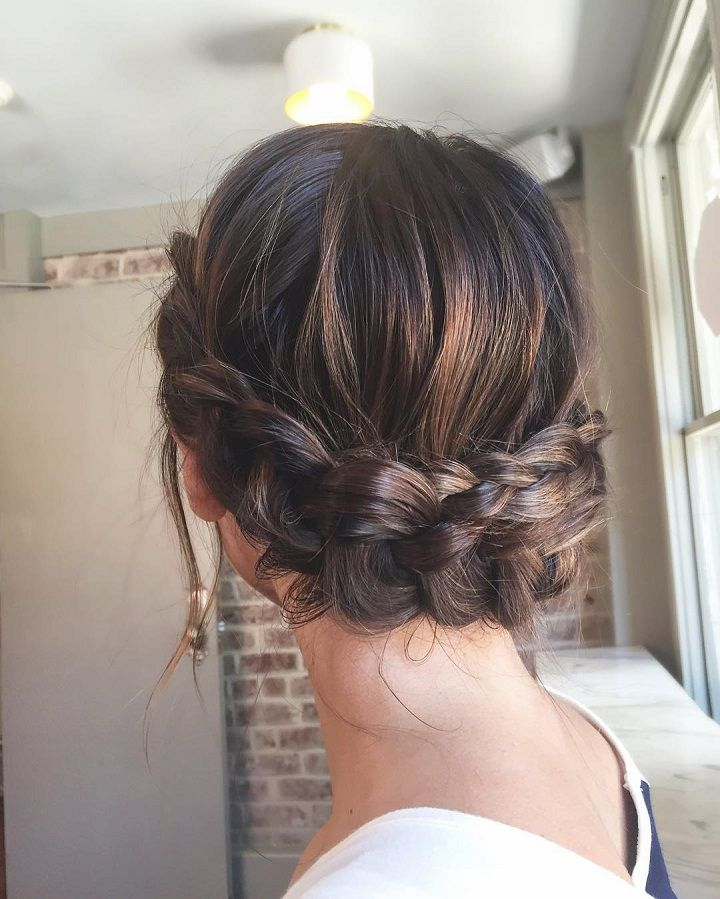 Beautiful Crown Braid Updo Wedding Hairstyle For Romantic Inside 2020 Angular Crown Braided Hairstyles (View 5 of 25)
