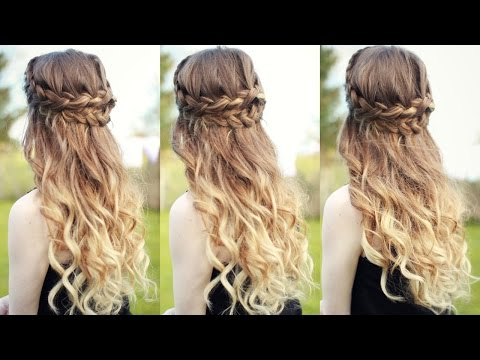 Beautiful Half Down Half Up Braided Hairstyle With Curls Pertaining To Curled Half Up Hairstyles (View 25 of 25)