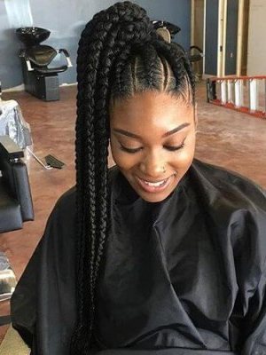 Black Braided Hairstyles 2019 – Big, Small, African, 2 And 4 In Recent Thick Cornrows Braided Hairstyles (View 2 of 25)
