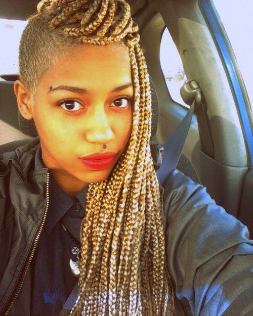 Blonde Braids + Side Shave :) | Hair Laid | Blonde Braids With Best And Newest Metallic Side Cornrows Braided Hairstyles (View 15 of 25)
