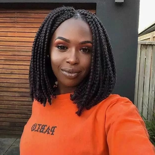 Bob Box Braids Hairstyles In 2018 ? Legit (View 16 of 25)