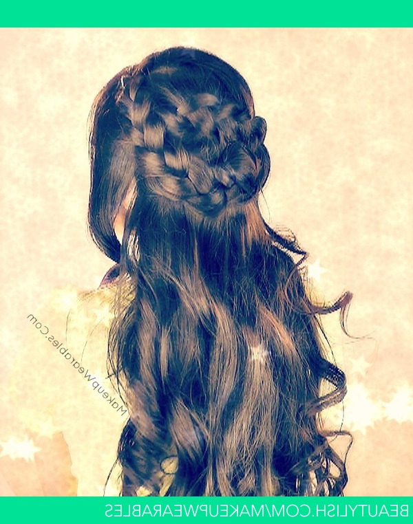 Boho Wrap Around Braid Half Up Updo For Long Hair Tutorial Within Braided Half Up Hairstyles (View 24 of 25)