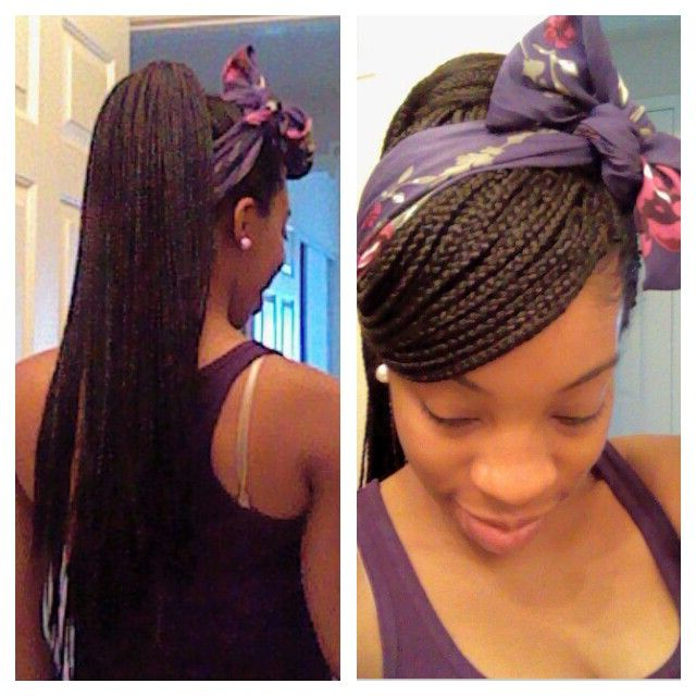 Box Braid Style: Side Swoop With A High Ponytail And A In Newest Micro Braids In Side Fishtail Braid (View 4 of 25)