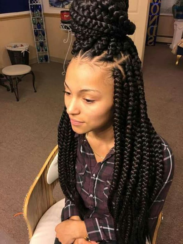 Box Braids Hairstyles, Hairstyles With Box Braids In Most Up To Date Box Braided Hairstyles (View 7 of 25)