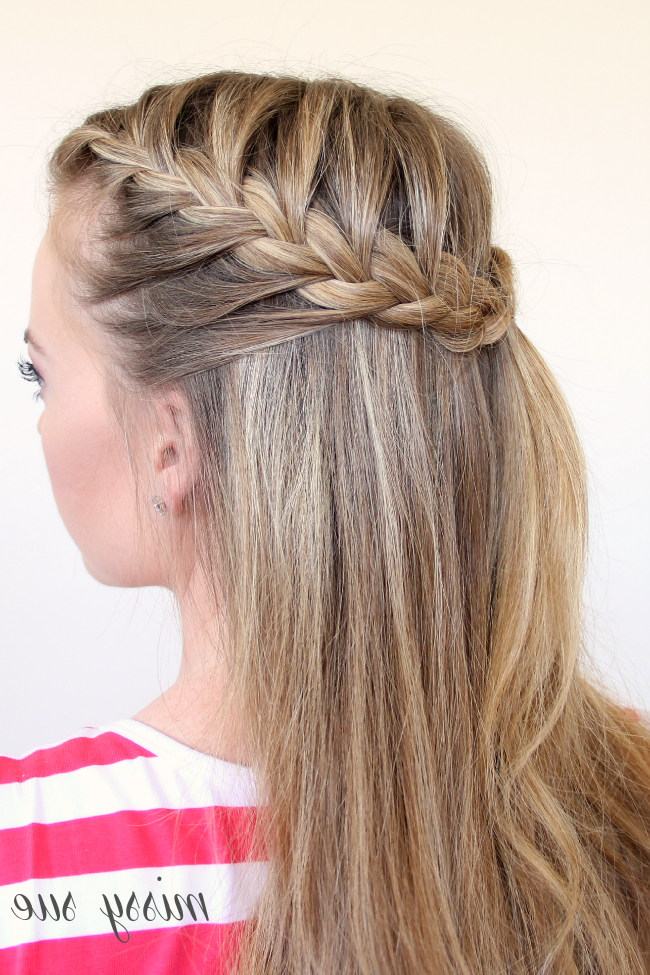 Braid 11 Half Up French Braids Intended For Braided Half Up Hairstyles (View 15 of 25)