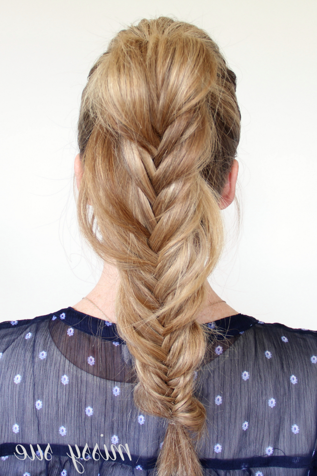 Braid 7 Fishtail Ponytail Regarding Most Current Fishtail Braid Pontyail Hairstyles (View 8 of 25)