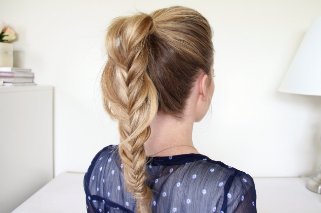 Braid 7 Fishtail Ponytail With Regard To Most Recently Ponytail Fishtail Braided Hairstyles (View 13 of 25)