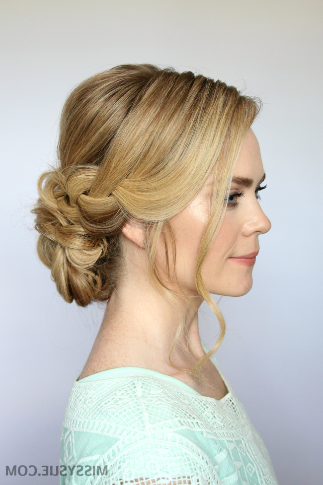 Braid And Low Bun Updo | Missy Sue Pertaining To Low Braided Bun Updo Hairstyles (View 5 of 25)