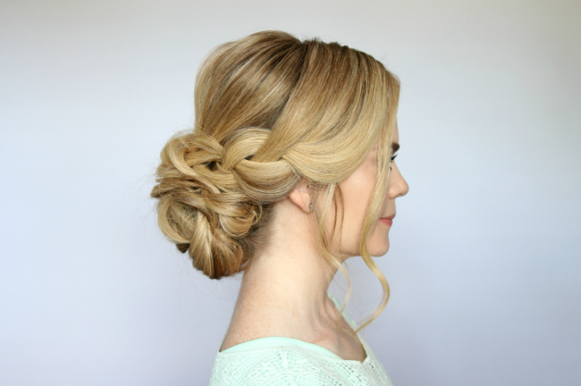 Braid And Low Bun Updo | Missy Sue Throughout Tie It Up Updo Hairstyles (View 18 of 25)
