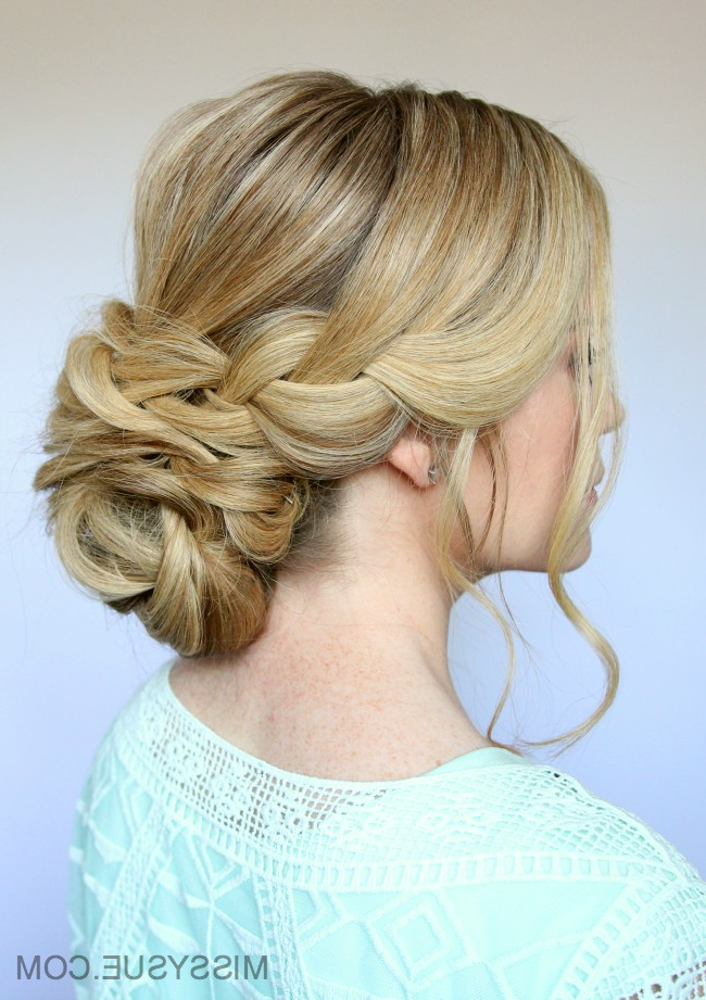 Braid And Low Bun Updo | Missy Sue With Regard To 2020 Plaited Low Bun Braided Hairstyles (View 11 of 25)