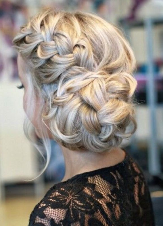 Braid, Bun, Plait, Soft, Up Style, Up Do, Curls, Waves Pertaining To Recent Plaited Chignon Braided Hairstyles (View 2 of 25)