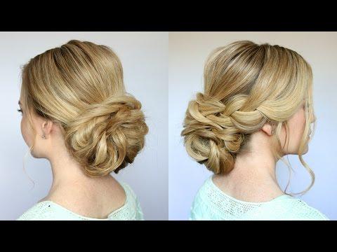 Braid + Low Bun Updo | Missy Sue – Youtube In Low Braided Bun Updo Hairstyles (View 16 of 25)