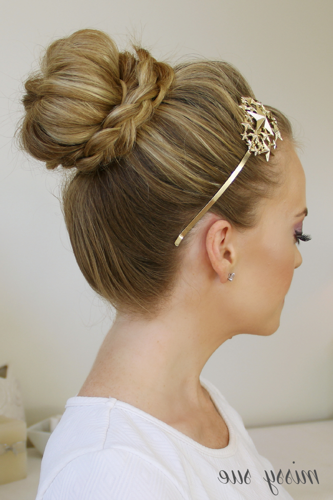 Braid Wrapped High Bun For Current Plaited Chignon Braided Hairstyles (View 14 of 25)