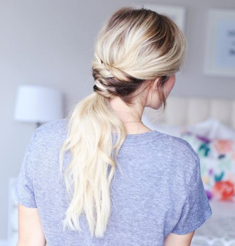 Braided Base – Ponytail The Top Half, Then Braid The Throughout Latest Braided Underside Hairstyles (View 23 of 25)