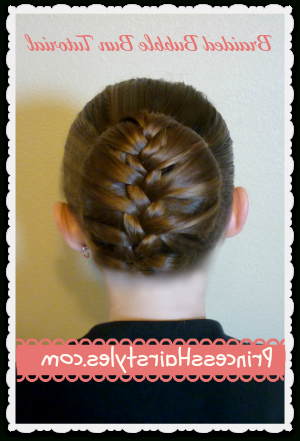 Braided Bubble Bun, Dance Hairstyle Tutorial | Hairstyles Inside Bubble Braid Updo Hairstyles (View 14 of 25)