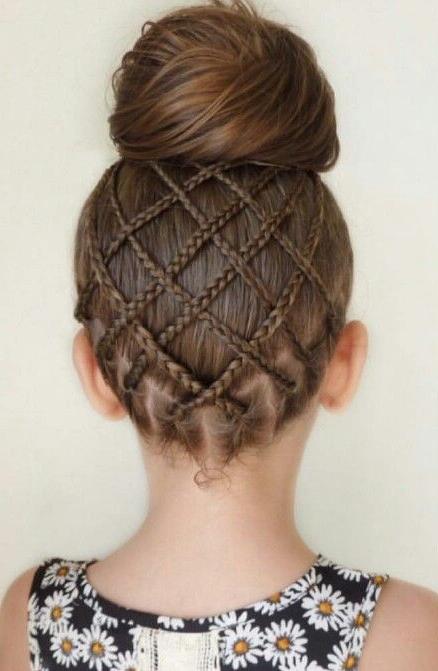Featured Photo of Criss Cross Braid Bun Hairstyles