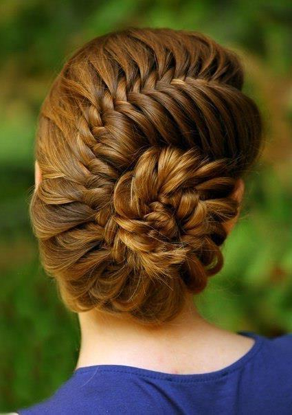 Braided Hair Model – French Fishtail Braided Updo #2026601 Inside Fishtail Braid Updo Hairstyles (View 7 of 25)