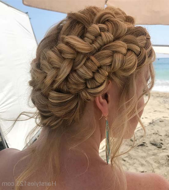 Braided Hairstyles Intended For Multi Braid Updo Hairstyles (View 7 of 25)