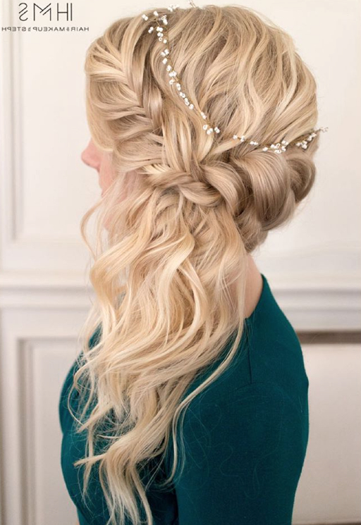 Braided Sideswept Wedding Hair ~ We ? This! Moncheribridals With Regard To Side Swept Braid Updo Hairstyles (View 5 of 25)