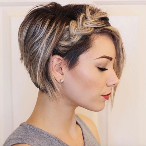 Braided Stacked Bob – Perfectly Imperfect Messy Braids For With Stacked Mini Buns Hairstyles (View 23 of 25)