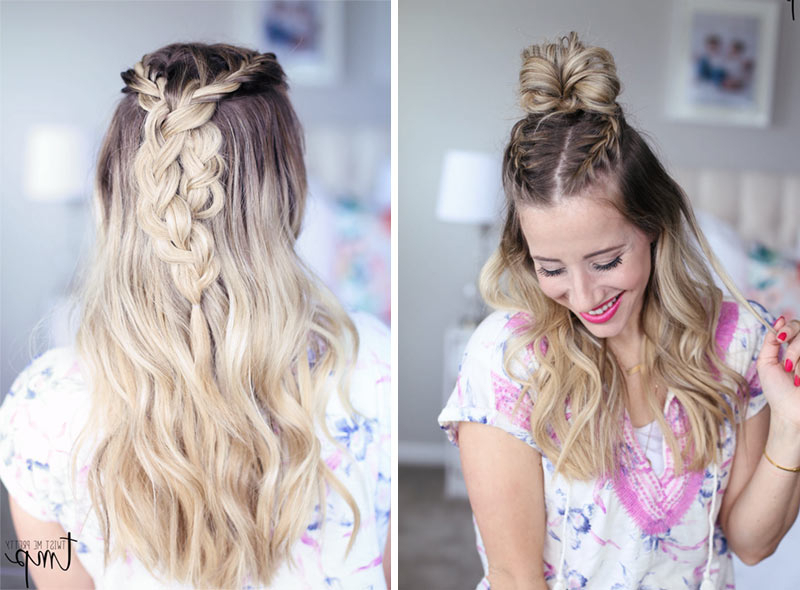 Braided Top Knot X2 – Twist Me Pretty With Newest Braided Top Knot Hairstyles (View 2 of 25)