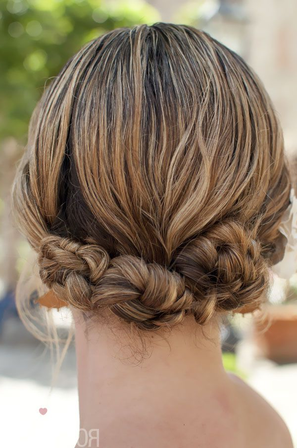 Braided Twist & Pin Mini Bun Hairstyle Tutorial, On Location Pertaining To Mini Braided Buns Updo Hairstyles (View 4 of 25)