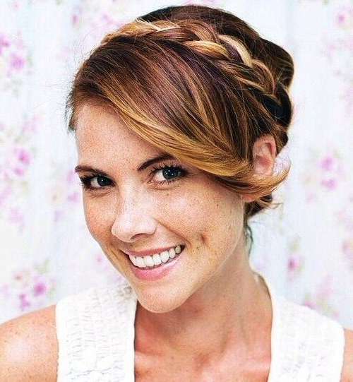 Braided Updo With Side Swept Bangs | Styles Weekly In Side Swept Braid Updo Hairstyles (View 23 of 25)